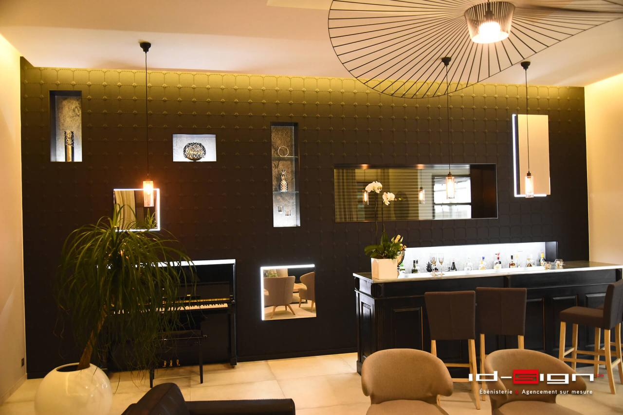 Salon et bar moderne