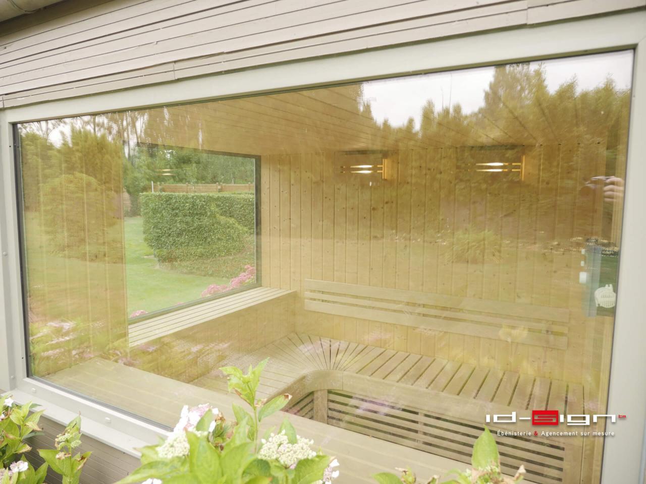 Sauna sur mesure en bois