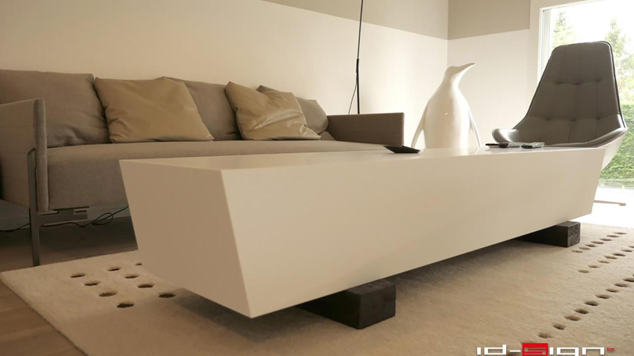 Table basse moderne en corian