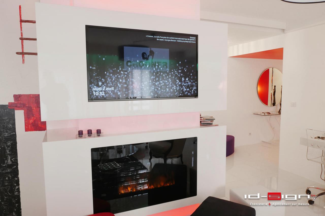 Meuble de télévision blanc